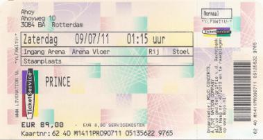 Prince 09-07-2011/10-07-2011 concertkaartje (apoplife.nl)