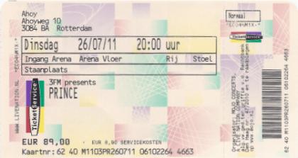 Prince 26-07-2011 concertkaartje (apoplife.nl)