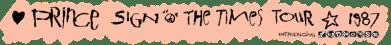 Sign 'O' The Times Tour (princevault.com)
