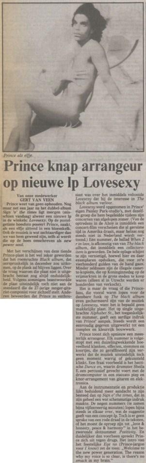 Prince - Lovesexy recensie - Volkskrant 09-05-1988 (apoplife.nl)