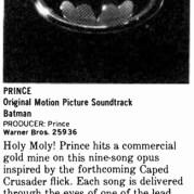 Prince - Batman recensie - Billboard half juni 1989 (prince.org)