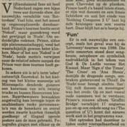 Prince - Nude Tour - Heerenveen recensie Nieuwsblad van het Noorden 06-08-1990 (apoplife.nl)