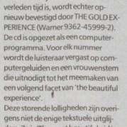 Prince - The Gold Experience recensie - Trouw 02-11-1995 (apoplife.nl)