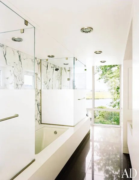 37 Bathroom Design Ideas to Inspire Your Next Renovation Photos     Combining natural materials and abundant light  architect and designer Lee  F  Mindel of Shelton