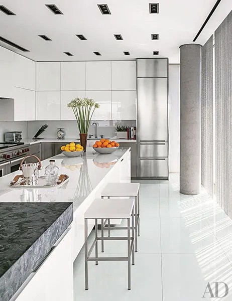 35 Sleek and Inspiring Contemporary Kitchens Photos ... on Modern Kitchens  id=94877