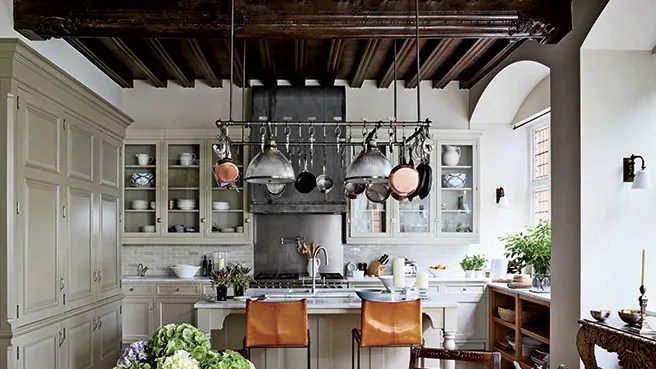 pot racks the ultimate in chic kitchen