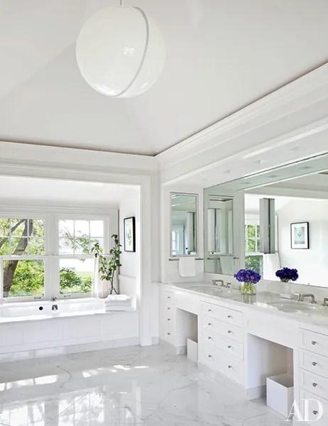 White Bathroom Design Ideas Photos | Architectural Digest on White Bathroom Design Ideas  id=39900