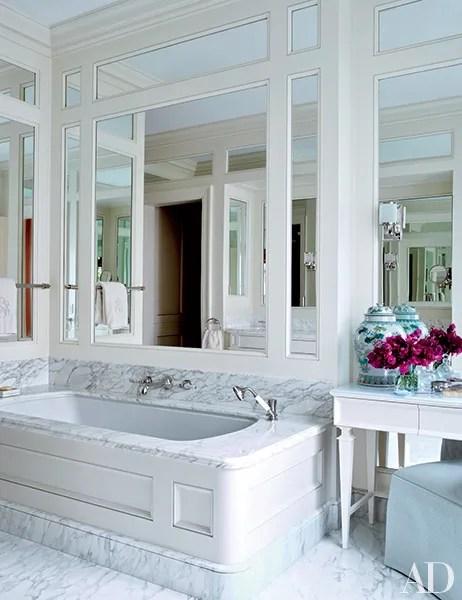 White Bathroom Design Ideas Photos | Architectural Digest on White Bathroom Design Ideas  id=74734