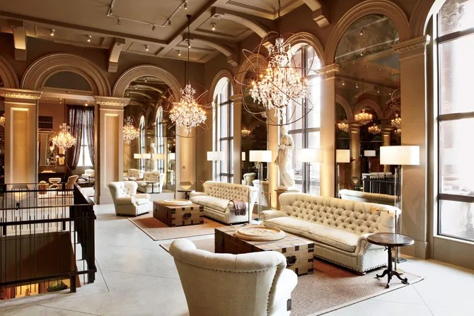 Restoration Hardwares Boston Flagship Store Opens In A Historic Building Architectural Digest