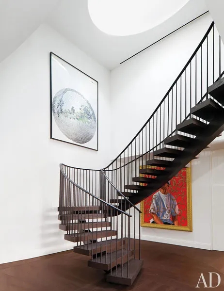 15 Striking Modern Staircases Architectural Digest   Steel Ladder Design For Home   Wrought Iron   House   Residential   Interior   Contemporary