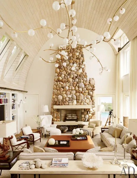 pThe living room of Bernie Madoffs former Montauk beach house once it was completely renovated by Daryl and Steve Roth.p