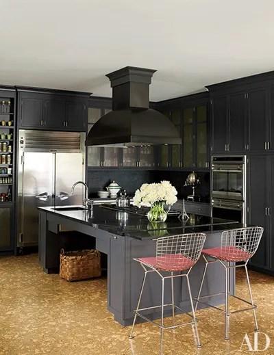 These 20 Black Kitchens Make a Stylish Impact ... on Black Granite Countertops Kitchen  id=56535