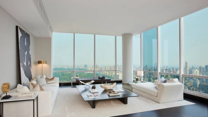 The Living Room Showcases Spectacular Views Of Central Park And Midtown Manhattan
