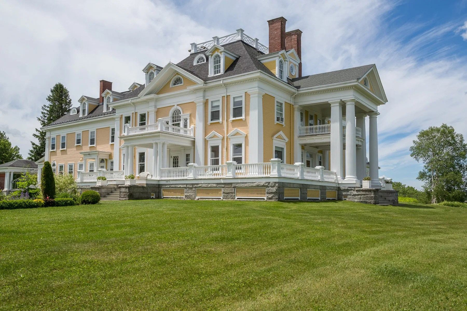 A Stately Colonial Style Mansion In Burke Vermont Is On