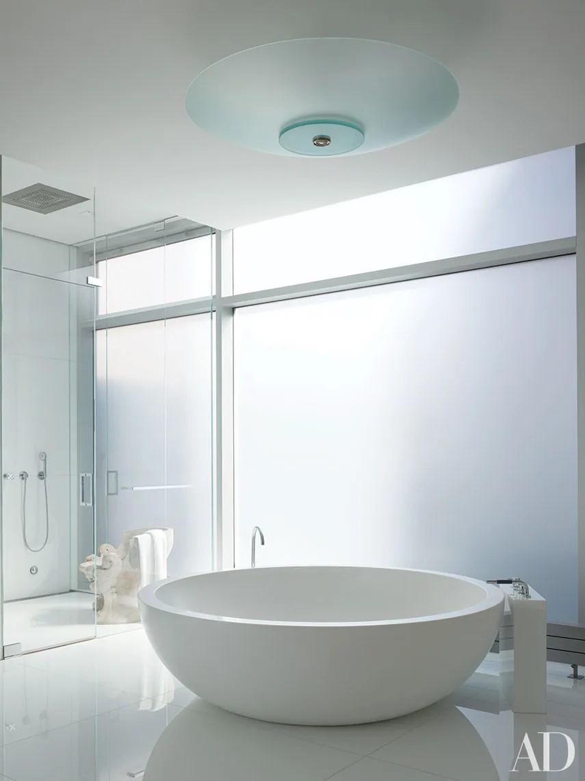 White Bathroom Design Ideas Photos | Architectural Digest on White Bathroom Design Ideas  id=90948