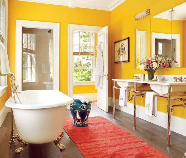 Colorful Bathroom Design Ideas That Will Inspire You To Go Bold Photos Architectural Digest