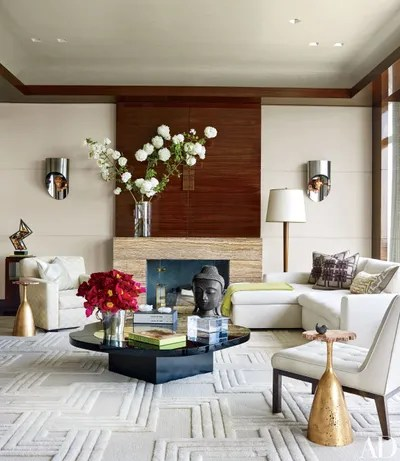 27 Modern Living Rooms Full of Luxurious Details ... on Shelf Sconces For Living Rooms Contemporary id=14091
