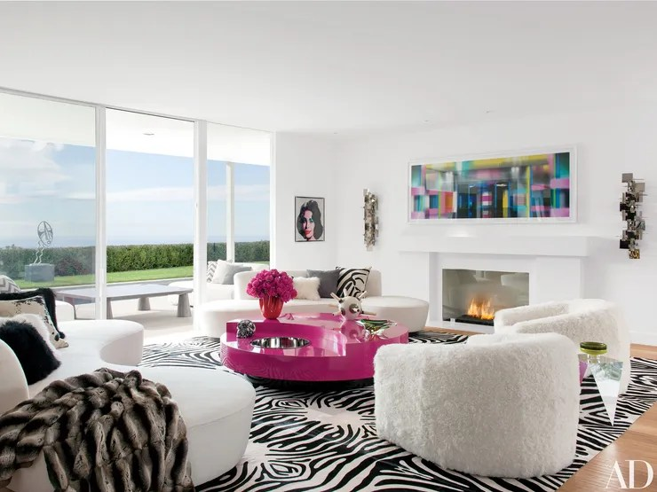 Elton Johns Art Filled Home In Los Angeles