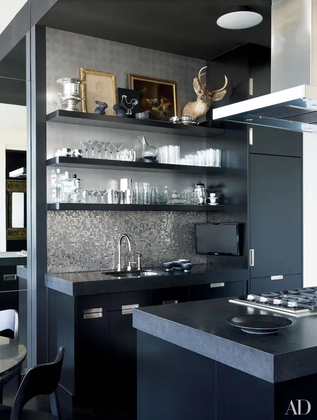 25 Black Countertops to Inspire Your Kitchen Renovation ... on Kitchen Backsplash With Black Countertop  id=65574