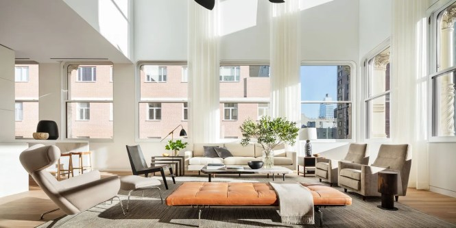 The Living Room Of An Apartment Outed By Brad Ford In Shigeru Ban S Cast Iron House