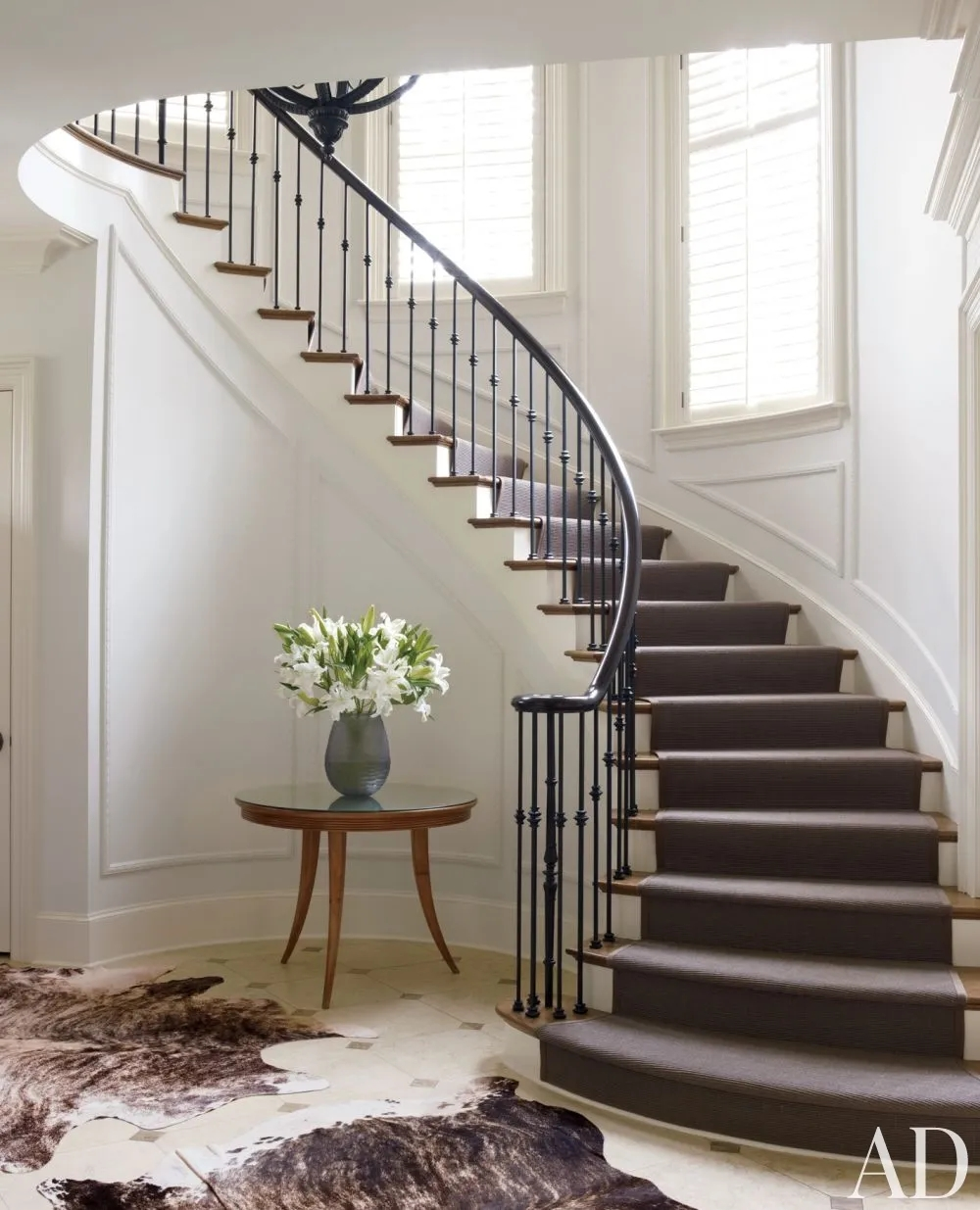 Types Of Stairs Explained Architectural Digest | Half Round Stairs Design | Half Circle Staircase | Frame | Plan | Metal | Indian Style