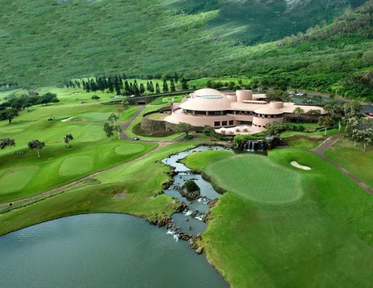 The Most Beautiful Clubhouse in Every State in America Photos     a beige round modern building on a golf course