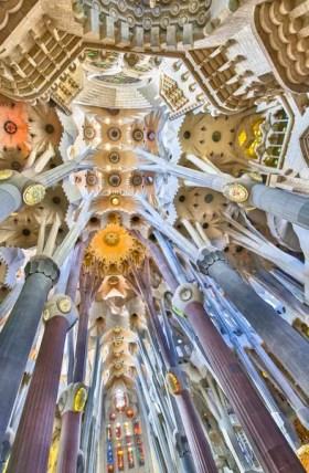 Sagrada Familia in Barcelona Spain.