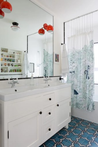 10 IKEA Hacks from Professional Designers   Architectural Digest A bathroom by Karen Vidal with an IKEA sink top