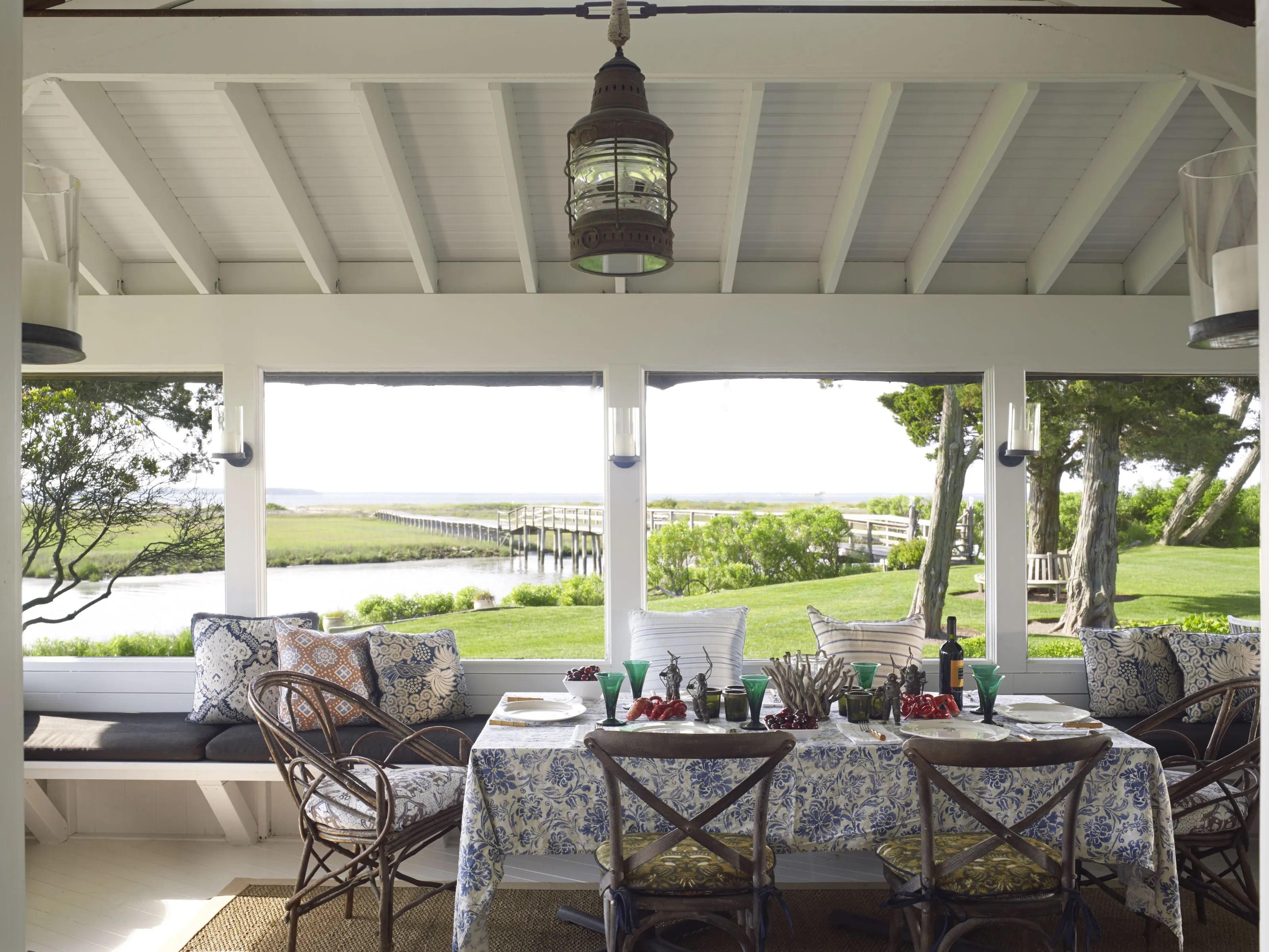 Outdoor Patio Ideas from Stunning Hamptons Homes Photos ... on Backyard Patio Designs  id=93967