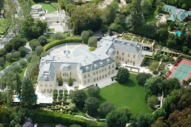 Location: Los Angeles, CaliforniaBuilt: 1990Price: $200,000,000Bed/Baths: 14 bedrooms, 16 bathroomsSq. Footage: 52,503Lot Size: 4.69 acres