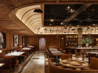 The Restaurant Design Trends You ll See Everywhere in 2018     Leuca  in Brooklyn s William Vale Hote  The Studio Munge designed restaurant  features wood