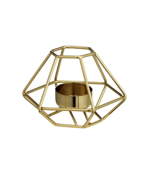 Geometric metal tea light holder