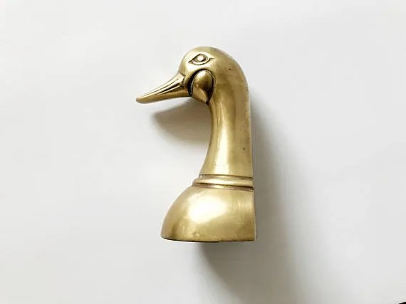 Brass duck head