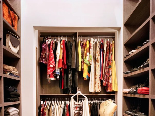 Sofia's walk-in was designed by California Closets.