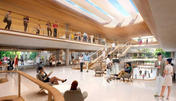 A look at the interior, which will allow for a great deal of natural lighting.