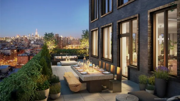 A private terrace at 196 Orchard.