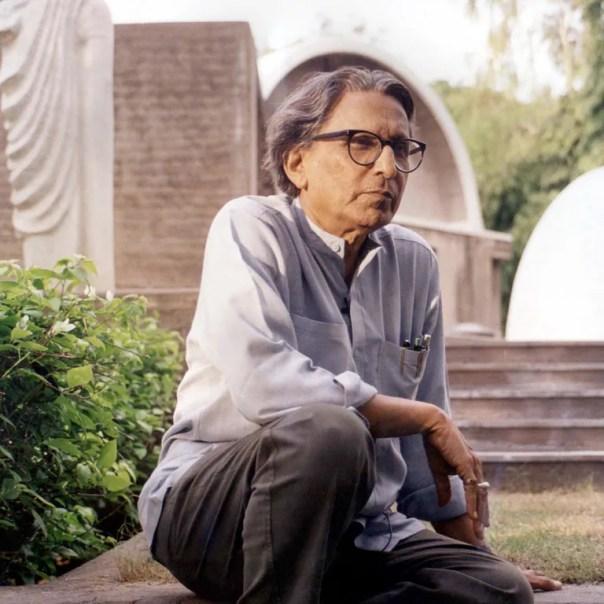 Balkrishna Doshi, winner of the 2018 Pritzker Prize.