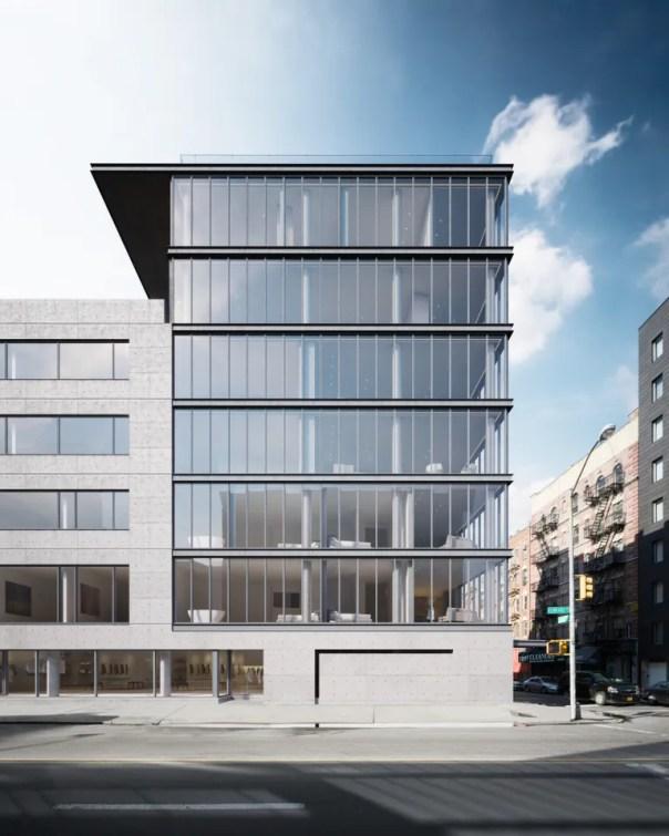 Glass, iron, and concrete meet at Tadao Ando's 152 Elizabeth Street building in Nolita.
