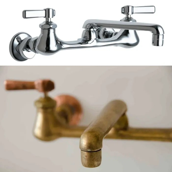 how to get an antique brass faucet for