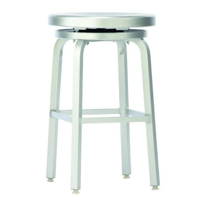 brushed aluminum bar stool