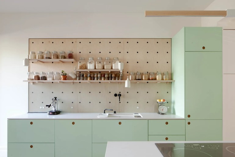 Image may contain Furniture Interior Design Indoors Shelf Room and Kitchen