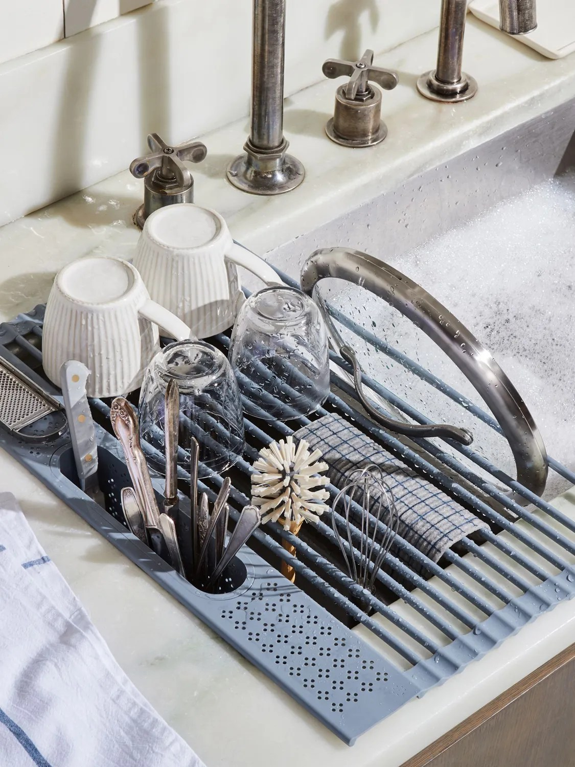 this dish drying rack is easing my