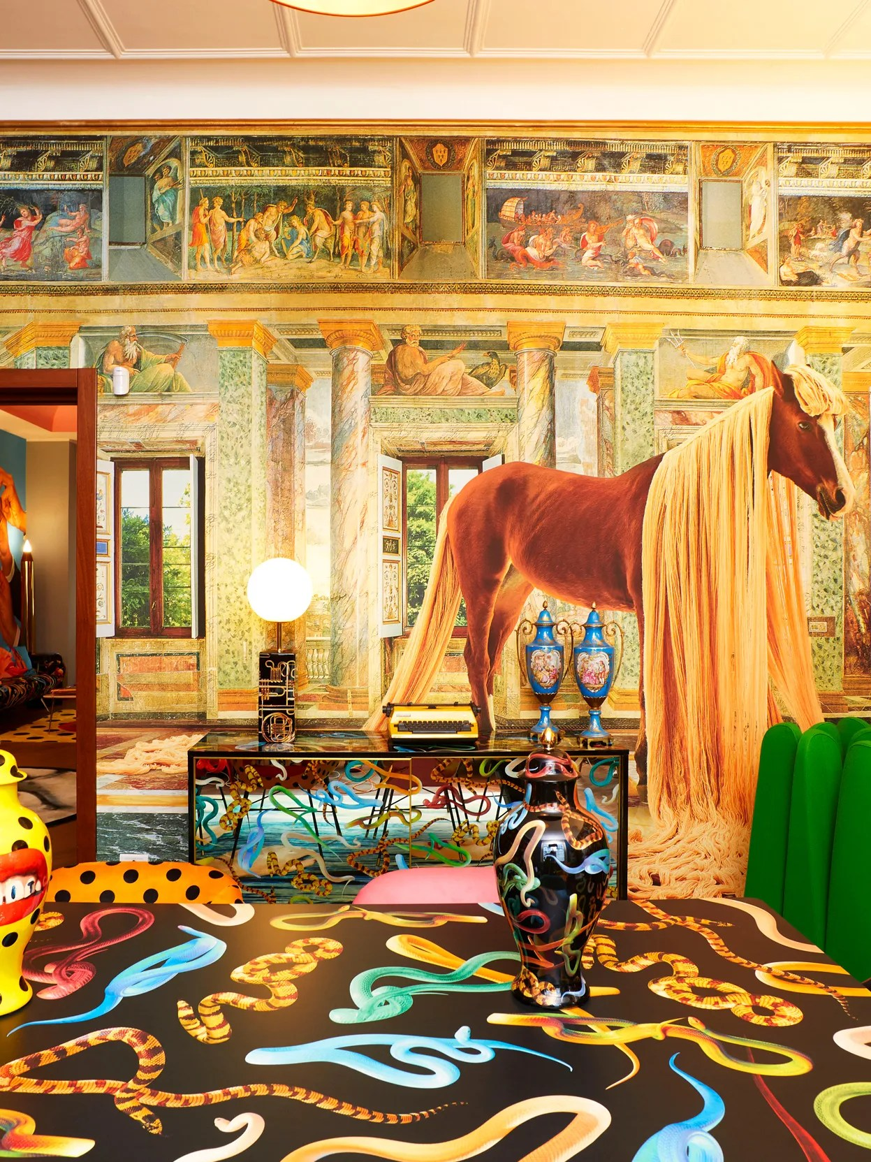 It's an exciting time for the horse too. Milan Design Week 2021 Hermes S Spectacular Installation Digital Art From Nilufar And A Decidedly Irreverent Lunch Architectural Digest