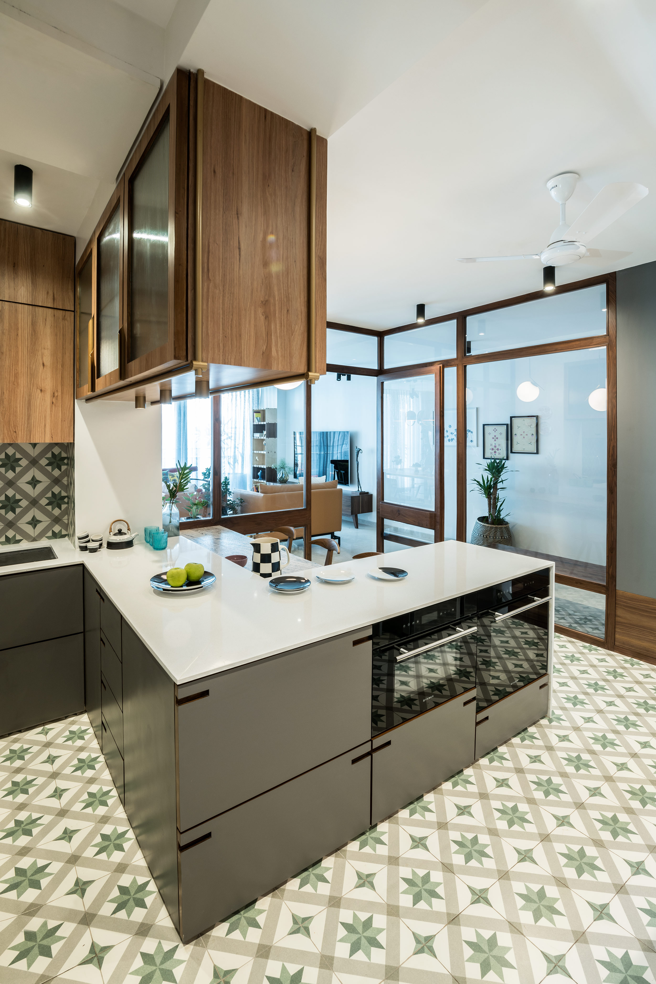 5 spectacular indian kitchen designs that provide food for on Organizing The Kitchen Area With A Dainty Kitchen Backsplash Decoration Model id=36632