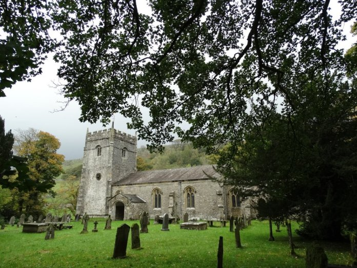 Buildings in Yorkshire, such as this Norman church near Arncliffe, have the distinctive gray cast of the local stone. Photo by Dave Hage via Star Tribune (TNS)
