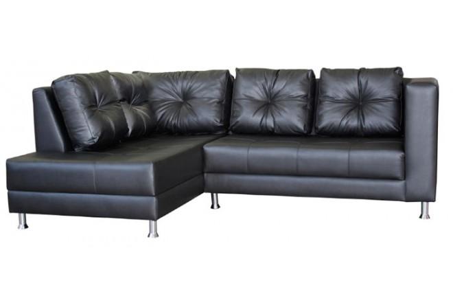 sofa en l luca izquierdo ecocuero negro