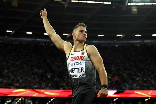 Johannes Vetter in the javelin at the IAAF World Championships London 2017 (Getty Images)