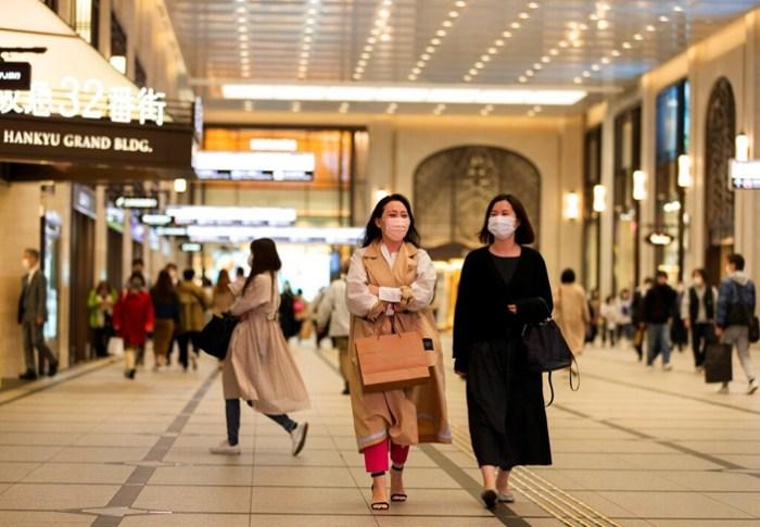 日本街角。  (美联社图片)