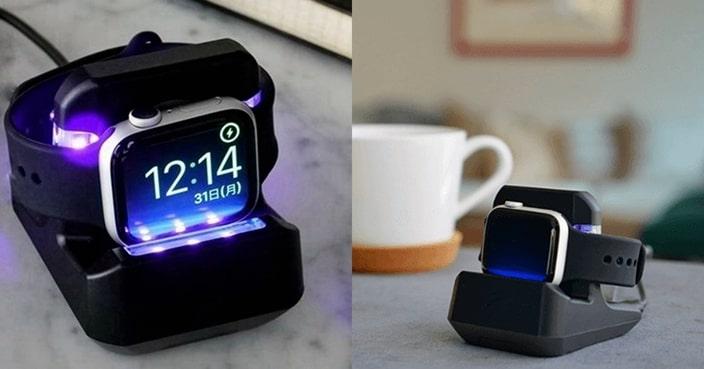 Charge N Clean! 日本智能手錶殺菌座一鍵三功能 | 網購