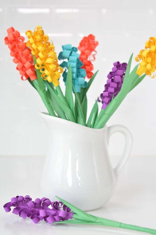 papperspyssel, vika papper, vika blommor, pysseltips, pyssel, DIY